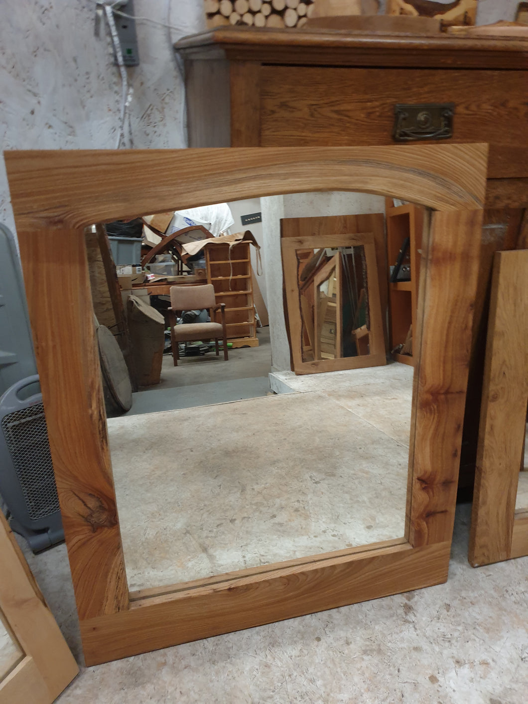 Large Elm Mirror