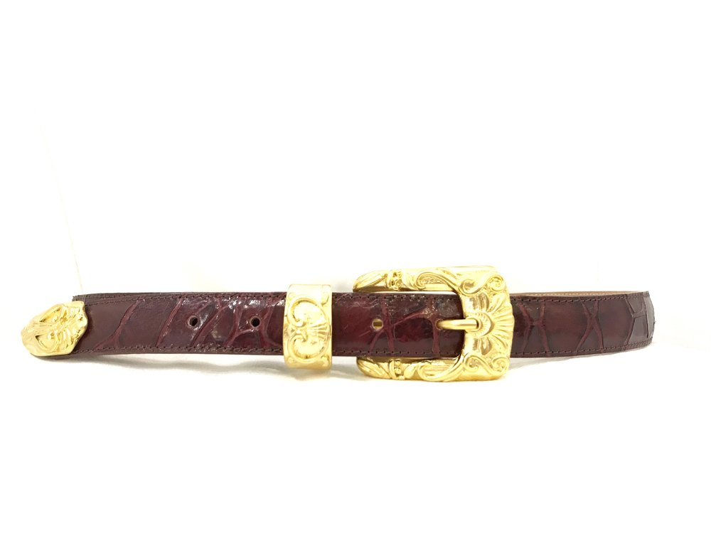 Streets Ahead Gold Buckle Leather Belt