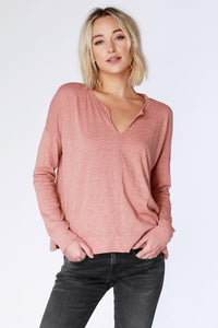Bobi SPLIT NECK TOP