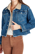 Load image into Gallery viewer, Sam Edelman Bella Fleece Lined Denim Jacket- T2