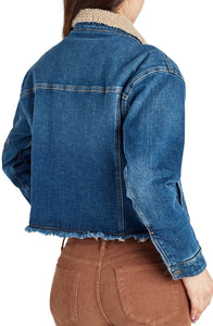 Sam Edelman Bella Fleece Lined Denim Jacket- T2