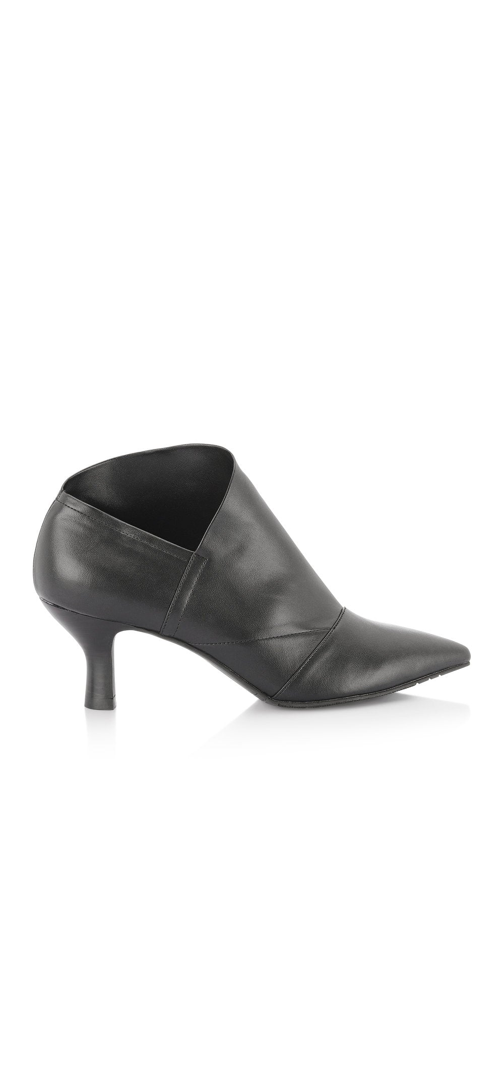 Pointy Toe Bootie stretch black