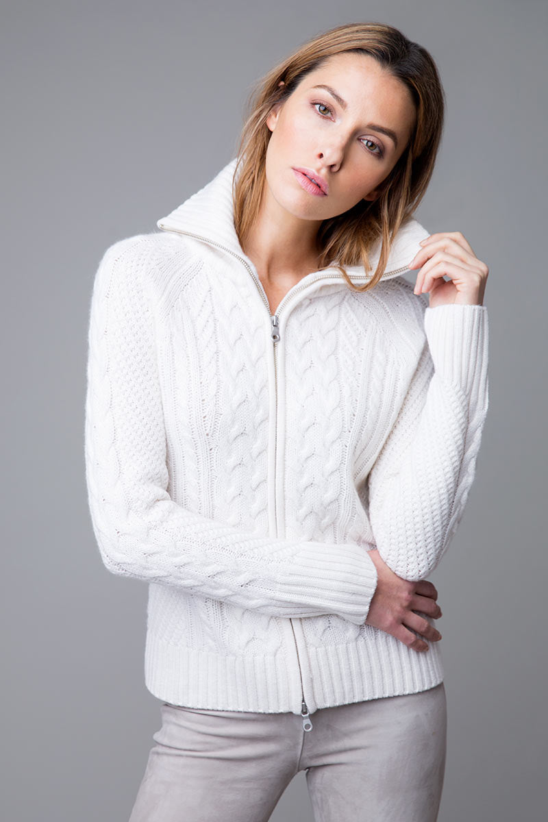 Zip Cable Cardigan