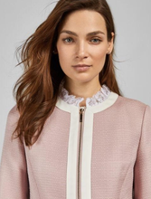 Load image into Gallery viewer, Ted Baker Ennio Lace Trim Woven Jacket