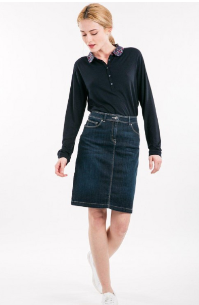 Saint James Elfy 5-Pocket Denim Jean Skirt (TCC)