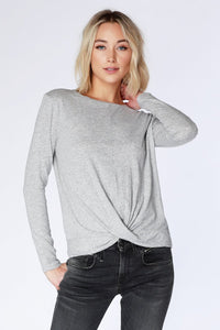 Bobi Twist Tee Heather Grey