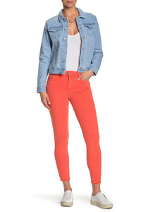 Tractr Mona High Rise Crop Skinny Color Denim