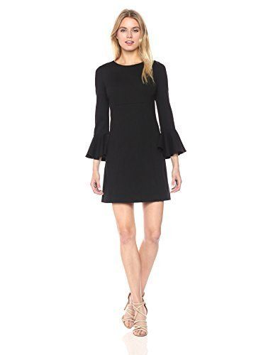 Trina Turk Women's Panache Ponte Bell Sleeve Dress