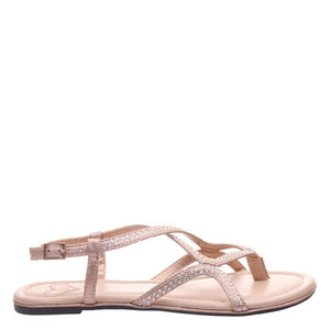 Deco Rose Gold Flat Sandals