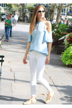 Load image into Gallery viewer, Tractr White 5PKT Fray Hem Ankle Crop w/ Embellished Leg