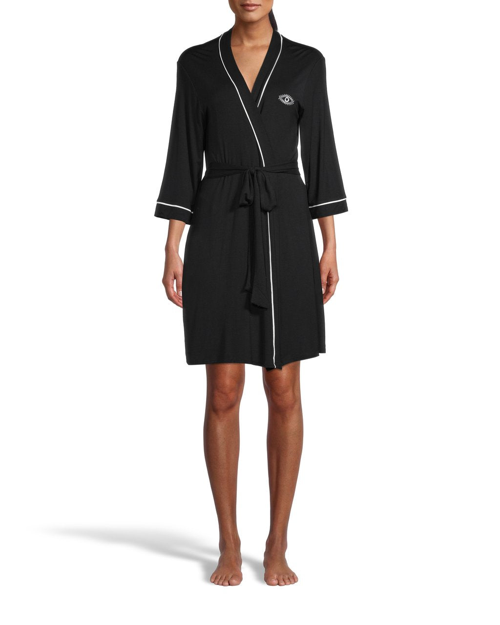Nicole Miller Evil Eye Embroidered Robe