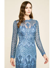 Load image into Gallery viewer, Tadashi Shoji Vela Long Sleeve Embroidered Dress