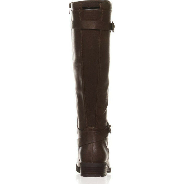 BareTraps Womens Yalina2 Wide Calf Riding Boots Brown 6.5 Medium (B,M) NEW