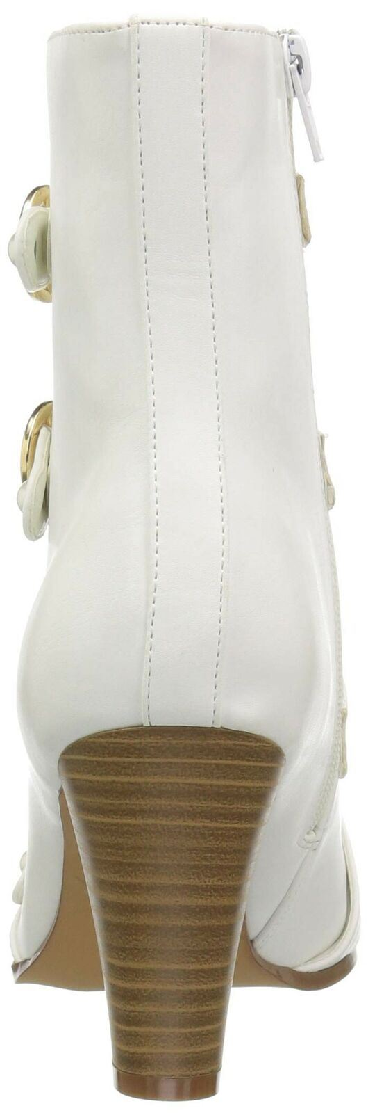 Penny Loves Kenny Women's ASAP Fashion Boot, White Shine Texture, 9 M US NEW