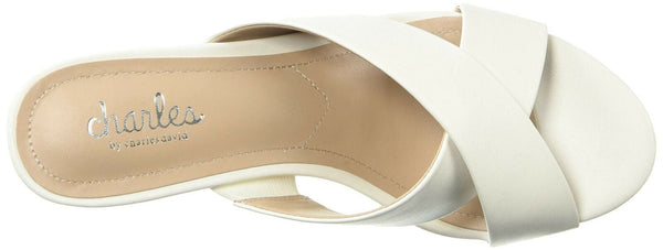 Charles by Charles David Women's Grady Wedge Sandal White 6.5 M US