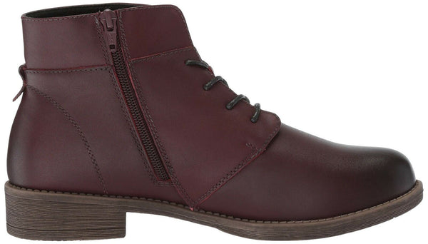 Propet Women's Tatum Lace Bootie Ankle Boot, Rich Burgundy, 6 Wide US