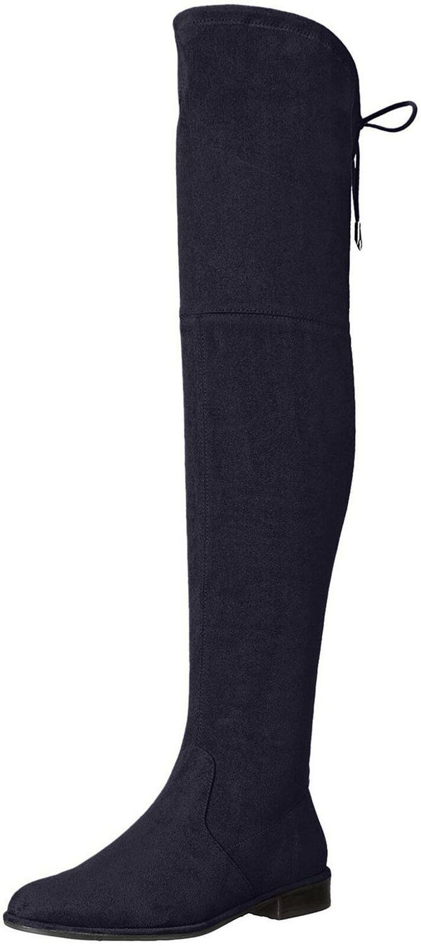 Marc Fisher Womens Humor 2 Faux Suede Over-The-Knee Boots Blue 5 Medium (B,M)