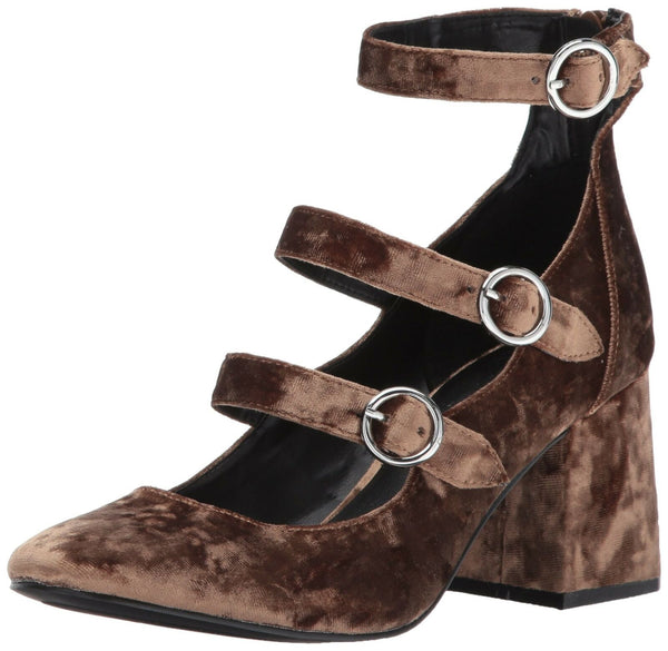 Indigo Rd. Women's JALLEN Pump, Brown, 9.5 M US