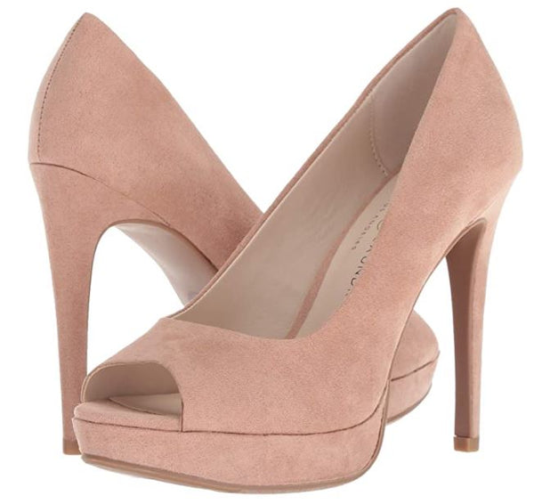 CHINESE LAUNDRY WOMEN HOLLISTON PUMP DARK NUDE SUEDE 8.5 M US