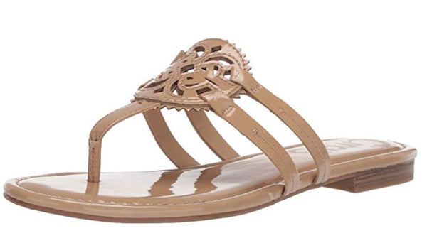 CIRCUS BY SAM EDELMAN WOMEN'S CANYON FLAT SANDAL, ALMOND PATENT, 10 M US