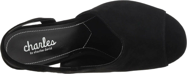 CHARLES BY CHARLES DAVID Riot Pump Black Suede 9