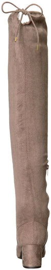 Qupid Women's SKIPPER-01X Over The Knee Boot, Taupe, 8 M US
