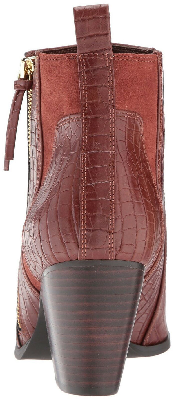 Bella Vita Women's Everest Ii Ankle Bootie, TAN Croco, 12 2W US