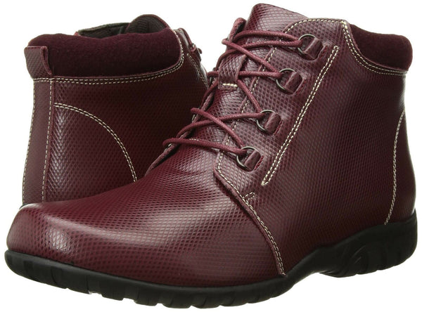Propet Women's Delaney Ankle Boot, Bordo, 6 Narrow