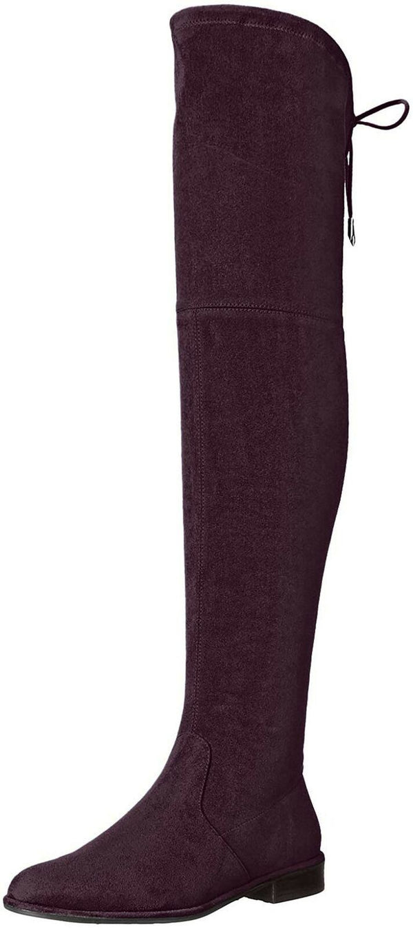 Marc Fisher Womens Humor 2 Faux Suede Over-The-Knee Boots Red 5 Medium (B,M)