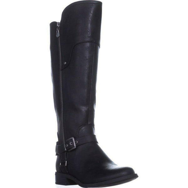 G By Guess Womens Harson5 Closed Toe Knee High Fashion, Black/Black, Size 6.5