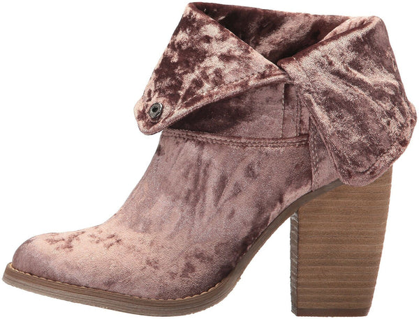 Sbicca Women's Velveteen Ankle Bootie, Mauve, 6 B US