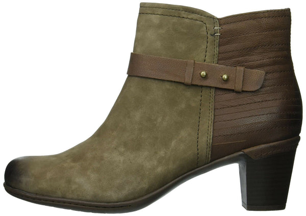 Cobb Hill Women's Rashel Buckle Boot Ankle, Stone Nubuck, 5 M US