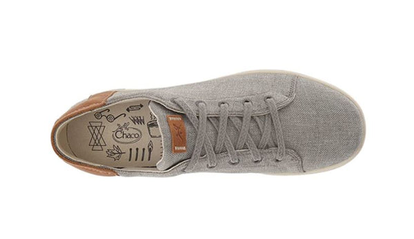 CHACO WOMEN'S IONIA LACE UP SHOE, GRAY, 8 M US