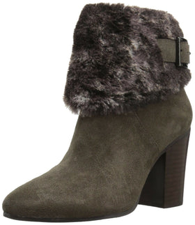 Aerosoles Women's North Square Ankle Boot, Taupe Suede, 6 M US