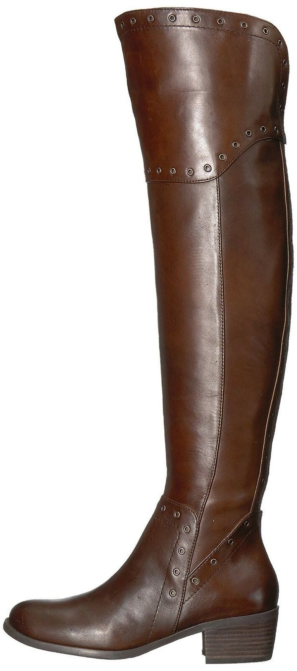 Vince Camuto Women's BESTAN Over The Knee Boot, Carob, 5.5 Medium US