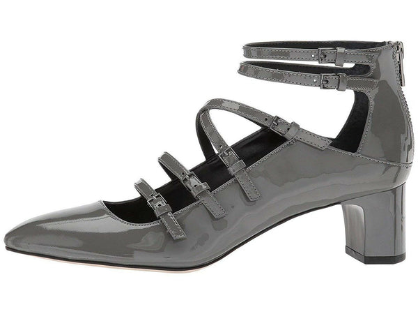 Calvin Klein Womens Madlenka Patent Closed Toe Ankle, Slate Patent, Size 6.0