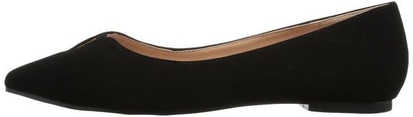 Brinley Co Women's Henna Ballet Flat, Black, 11 Regular US