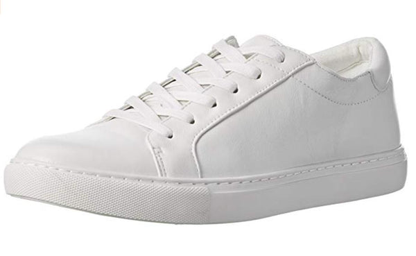 KENNETH COLE NEW YORK WOMEN'S KAM FASHION SNEAKER, WHITE, 7.5 M US