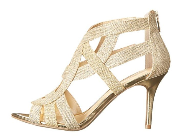MARC FISHER WOMEN'S SHOES NALA3 DRESS SANDAL, GOLD, 9 M US