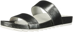 JSlides Women's Edie Sandal, Pewter Crinkle, 10 Medium US NEW