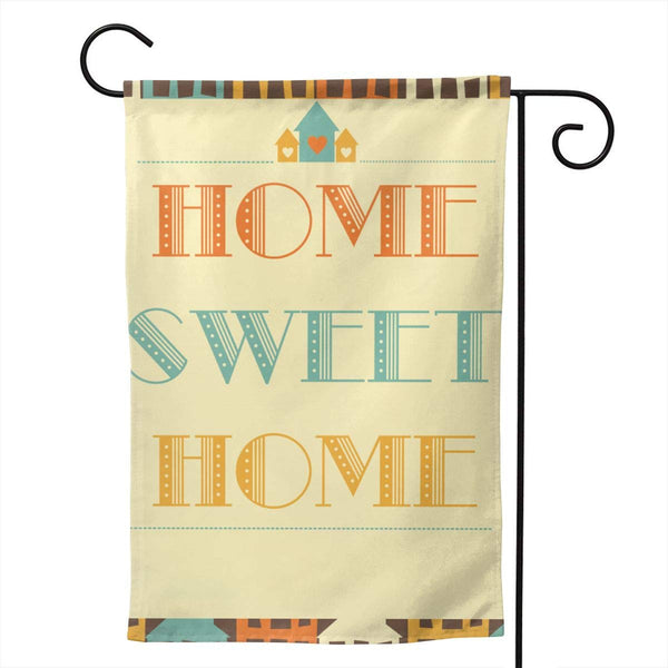 YASLNVT Personalized Garden Flag-Home-Sweet-Home Yard Flag 12.5 X 18 Inches/28 X 40 Inches