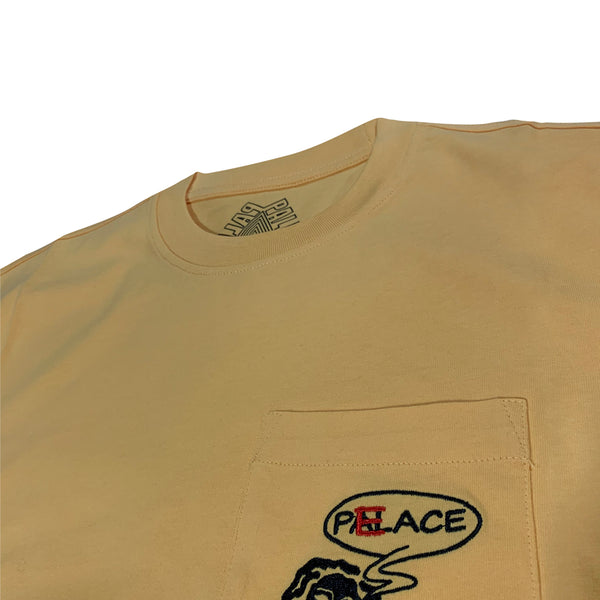 Palace Peace Pocket T-Shirt 'Yellow'