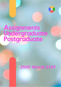 Assignment 2500 words