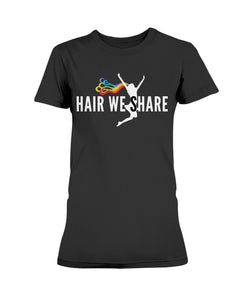 Hair We Share Logo Gildan Ladies Missy T-Shirt S-3XL multiple colors