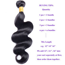 Load image into Gallery viewer, Modern Show Hair Malaysian Body Wave Hair Bundles Deal 100% Human Hair Extension 3 and 4 Bundles Available NonRemy Free Shipping