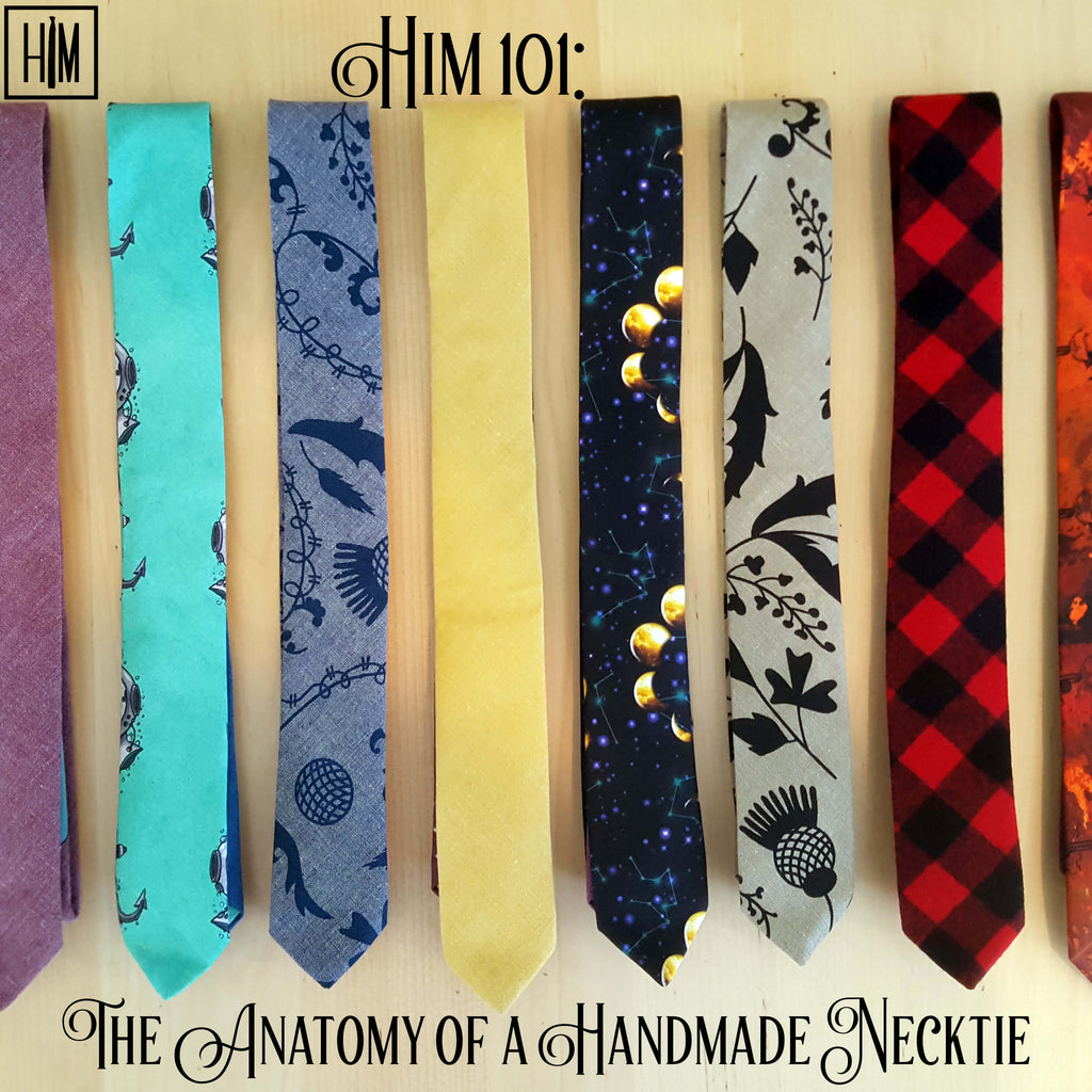 HIM Clothing - HIM 101: The Anatomy of a Handmade Necktie