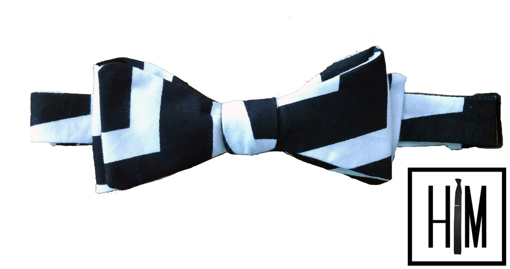 HIM Clothing - Custom Wedding Bow Ties Maria and Joe Groomsmen Gifts