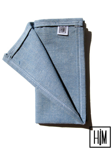 Bleu Pocket Square