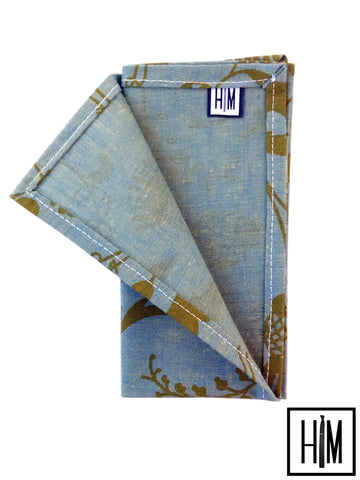 HIM Clothing - Toile Du Jouy Handmade Pocket Square Local Denver Coloraod Custom Wedding Groomsmen Gifts Mens Clothing Neckties Bow Ties Pocket Squares Tie Bars Lapel Flowers Shoelaces