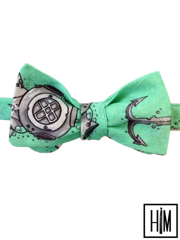 HIM Clothing Handmade Neckties and Bow Ties Denver Artist Series Hand Drawn Design Josh Mowgli Local Denver Colorado Custom Wedding Groomsmen Gifts Mens Clothing Neckties Bow Ties Pocket Squares Tie Bars Lapel Flowers Shoelaces